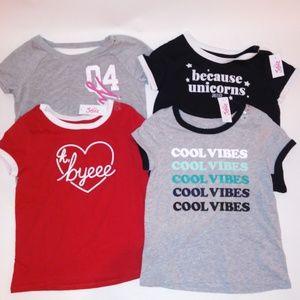 Set of 4 Justice Girls Shirts